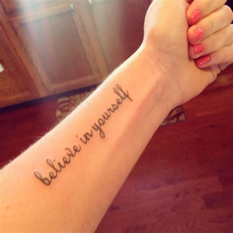 believe in yourself tattoo ideas aboutgirl tattoos archives segerios