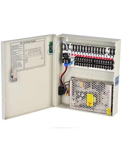 Spc Power Supply Cctv 12v 10a Garansi 1 Tahun 12v dc 10a 16 channels cctv power supply box for security
