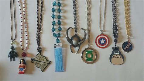 how to make chains jewelry diy how to make your own geeky necklaces from keychains