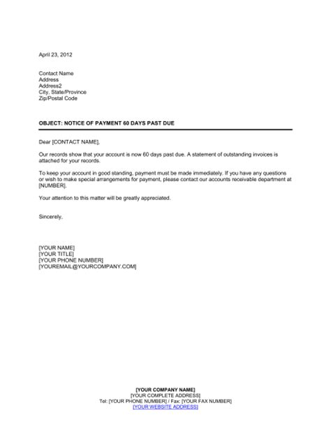 Due Payment Request Letter Past Due Letter Free Printable Documents