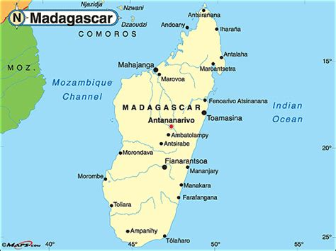 political map of madagascar madagascar political map by maps from maps