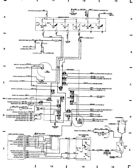 95 jeep yj radio wiring jeep yj engine diagram wiring
