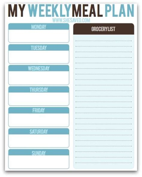 printable meal prep planner free weekly meal planning printable meal planning