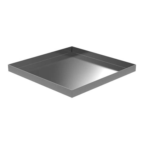 Washer Floor Tray by 32 In X 32 In Stainless Washer Drip Pan