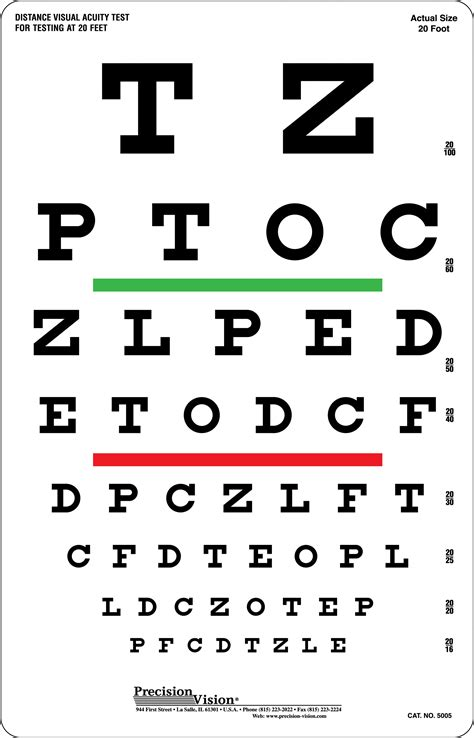 printable vision screening chart image gallery snellen