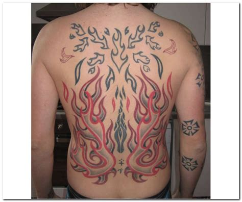 flame tattoo and flames