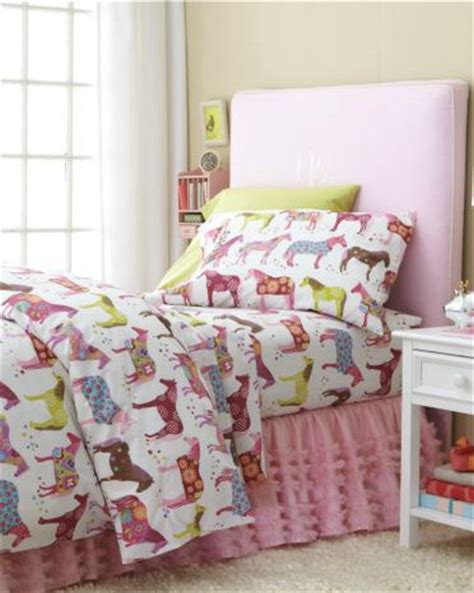 kids horse bedding painted ponies flannel bedding modern kids bedding