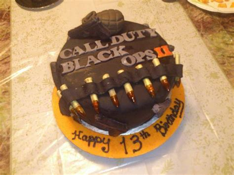 Call Of Duty Black Ops  Cake Double Layernilla Cake