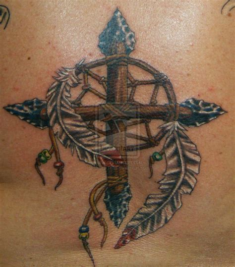 american cross tattoos catcher medicine