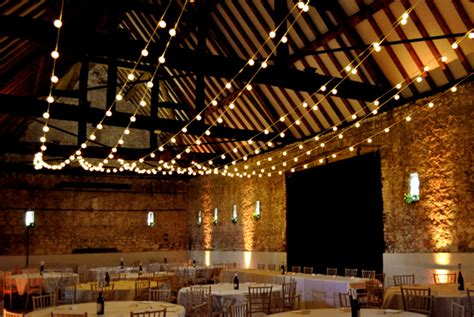 Vintage Industrial Home Decor by Rustic Wedding Festoon Lights At Monks Barn Berkshire