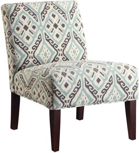 Multi Colored Armchair by Armless Accent Chair W Multi Colored Fabric Design