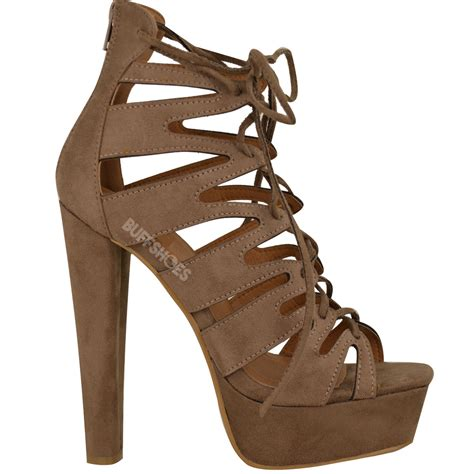 lace up ankle sandals new womens high heel platform gladiator sandals