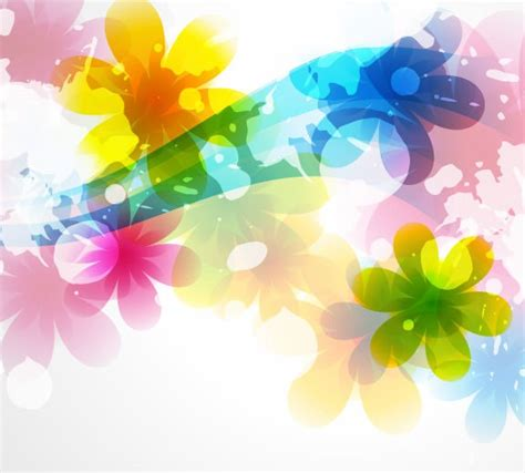 colored beautiful flowers design graphics vector flower vector of abstract colorful flower background free