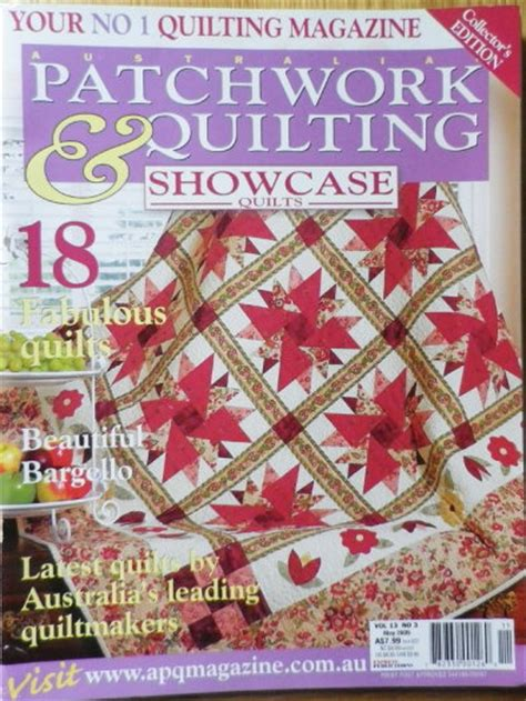 Patchwork Quilting Magazine Australia - australian patchwork quilting magazine collectors edition