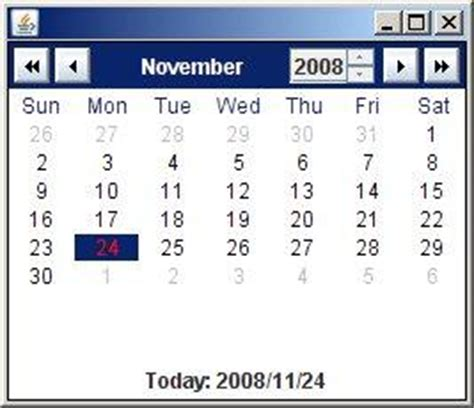 exle swing application excel date picker download software
