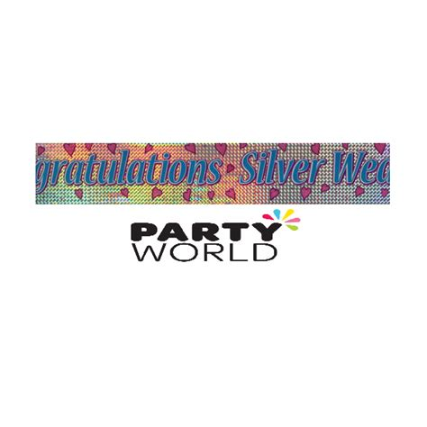 Wedding Congratulation Banners by Silver Wedding Congratulations Banner