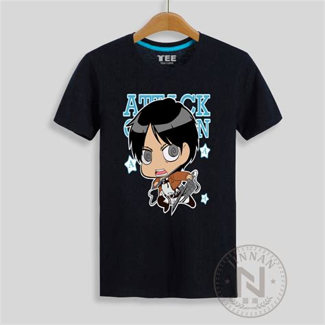 Tshirt Anime Boy Clothing attack on titan t shirt eren print anime t shirt boy