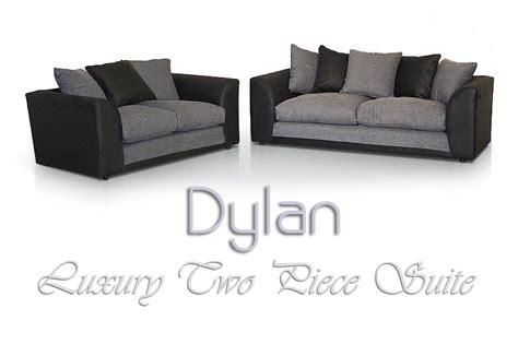 dylan sofa 3 2 seater dylan sofa black grey free footstool ebay