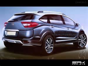 Honda V 2016 Honda Br V India Bound Budget 7 Seater Suv