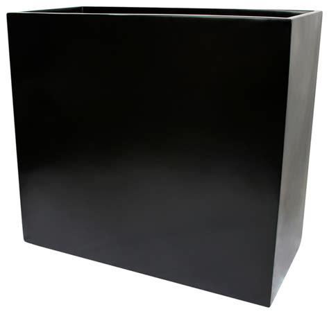 Black Rectangular Planter Box by Calistoga Rectangle Planter Box Black 36 Quot X12 Quot X30