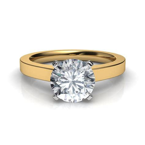 novo solitaire engagement ring