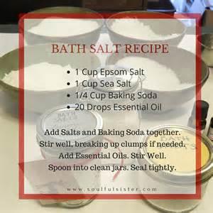 diy bath salts with essential oils soulful