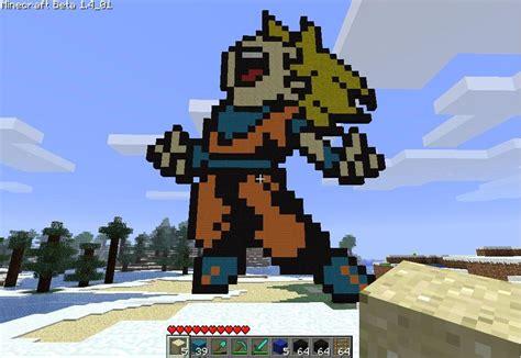 imagenes de goku en minecraft ss goku minecraft project