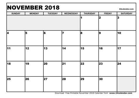 printable calendar blank 2018 blank november 2018 calendar in printable format