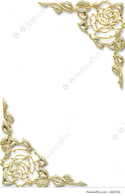 Picture Of Golden Floral Frame