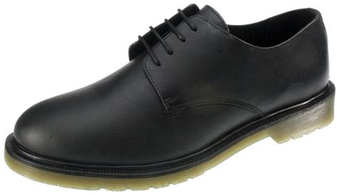 mens black leather airsole oxford lace up shoes