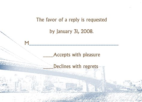 Rsvp Response Letter Wording The Etiquette And Wedding Rsvps Wording