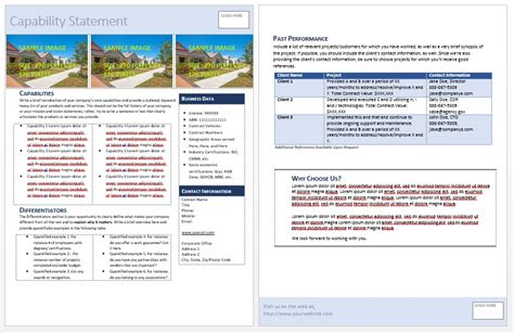 Get Started Quickly Capability Statement Template Doc
