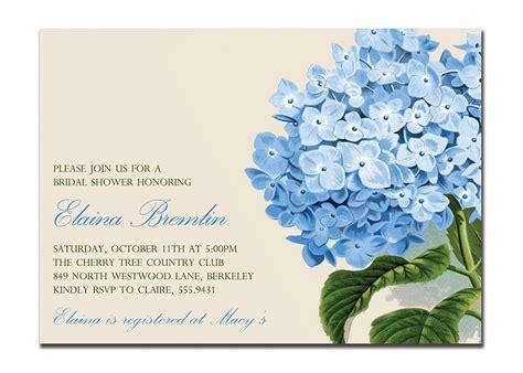 hydrangea wedding invitation vintage hydrangea bridal shower invitation baby shower
