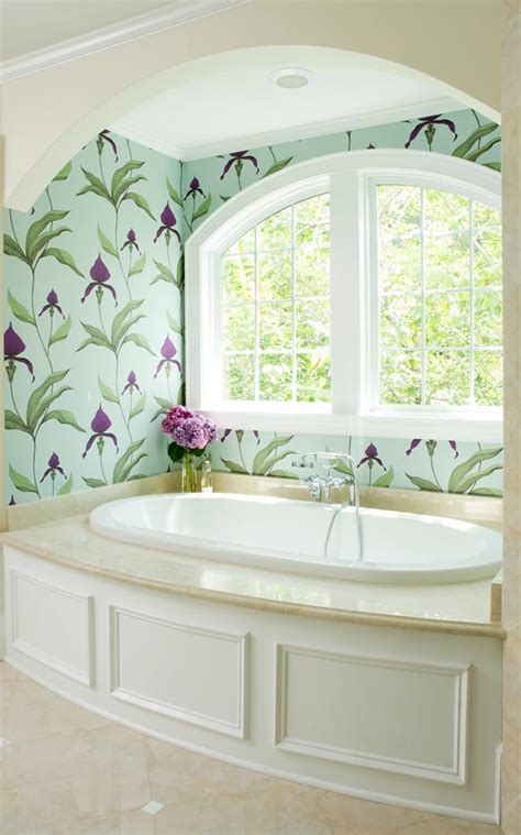 30 gorgeous wallpapered bathrooms 2018 pantone color of the year ultra violet house of