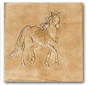 1 Inch Tick Ceramic Tile - whiskey six inch bas relief ceramic tile