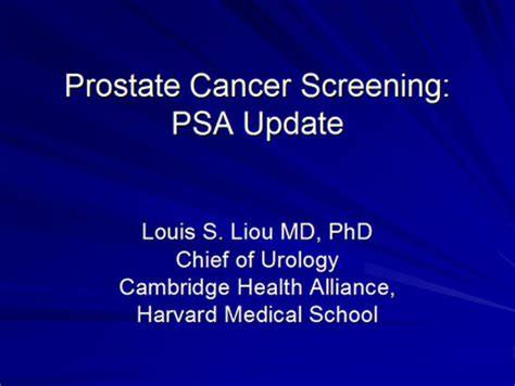 prostate screening guidelines prostate cancer screening and detection a clinical update
