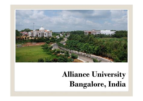 Alliance Mba Fees by Alliance Bangalore Courses Fees And Mba