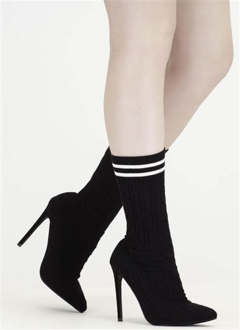 sock boots sale knit s a hit pointy sock booties grey pink olive black gojane