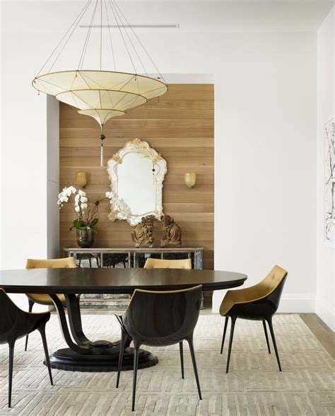 Wood Accent Wall In Dining Room Gorgeous Mirrored Sideboard In Dining Room Contemporary