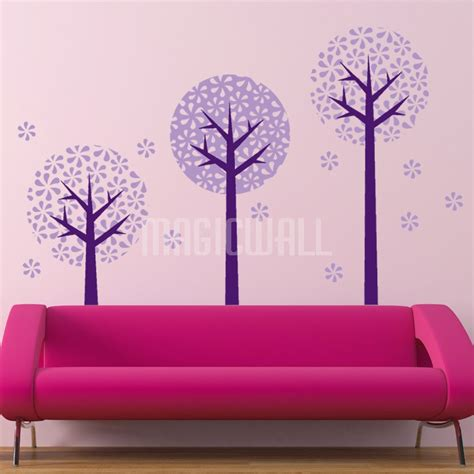 circle wall stickers wall stickers 3 floral circle trees wall decals canada