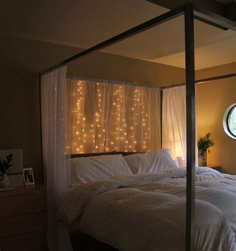 headboards with lights 15 diy curtain headboard with christmas lights home