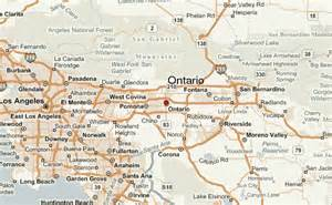 ontario california map ontario location guide
