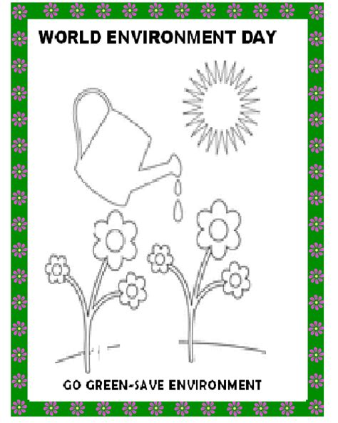 Coloring Pictures World Environment Day | kinder smart work world environment day