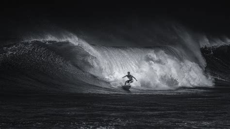 black and white wave wallpaper sports surfing wave black and white hd wallpaper
