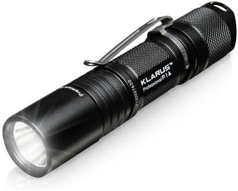 klarus p1a tactical led flashlight thinkgeek