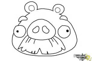 draw angry birds pig foreman pig drawingnow