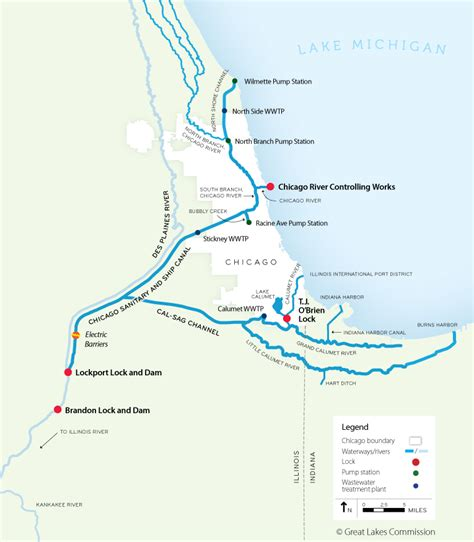 chicago river map january 2012 sierraclubillinois