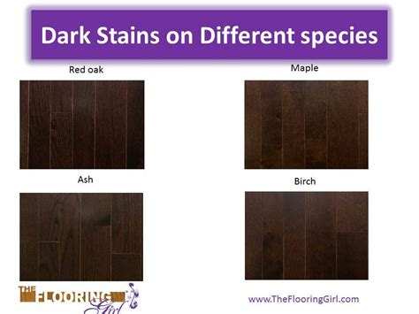 different color stains different woods absorb stains differently