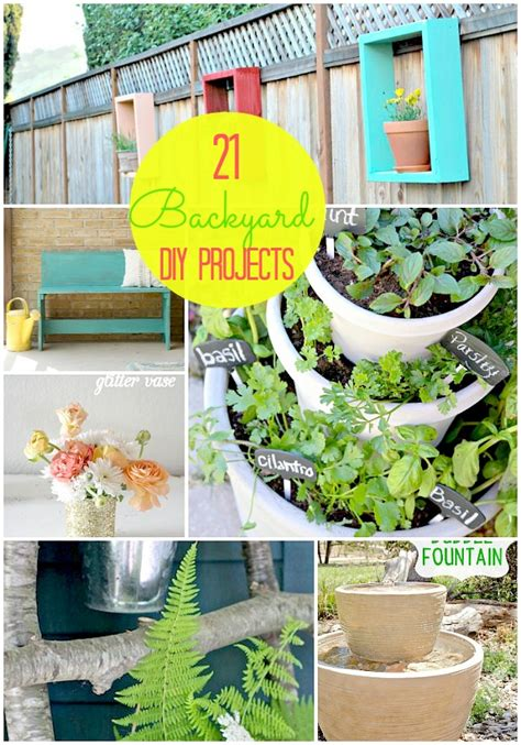 diy craft projects for the yard and garden great ideas 21 backyard projects for
