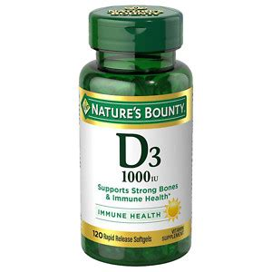 Vitamin D3 1000 Iu nature s bounty vitamin d3 1000 iu softgels drugstore